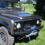 Defender tubular winch bumper